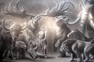L'Homme moderne est arrivé dans une Europe peuplée de géants. Musée de préhistoire d'Île-de-France, Nemours.