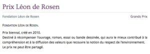 Prix Leon de Rosen_Academie francaise
