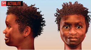 Reconstitution du visage de Luzia par l'artiste Cicero Moraes.